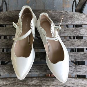 Simone Rocha White Patent Leather Mary Jane Pump 7